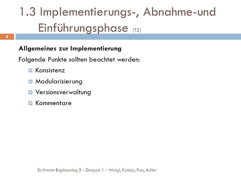 1.3 Implementierungs-, Abnahme-und Einführungsphase [T2]